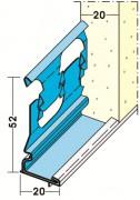protektor gleitlager sockelprofil 1229 20 mm putz f r aussen 2 5 m lang 1229250. Black Bedroom Furniture Sets. Home Design Ideas