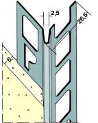 protektor kantenprofil 9104 aluminium 6 mm putz f r aussen 2 5 m lang 9104250. Black Bedroom Furniture Sets. Home Design Ideas