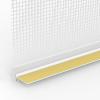 LAIBUNGSANSCHLUSSPROFIL MIT GEWEBE UND SCHUTZLIPPE, Putzdicke: 6 mm, 260 cm