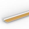 ANPUTZPROFIL MIT FLEXIBLER ABZIEHLASCHE UND GELKLEBEBAND, Putzdicke: 10 mm, 260 cm