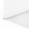 GIMA PVC-TROPFKANTENPROFIL MIT WDVS-GEWEBE, Putzdicke: 6 mm, 200 cm