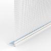 GIMA ROLLLADEN-ABSCHLUSSPROFIL MIT GEWEBE UND SCHAUMSTOFFKLEBEBAND AN DER OBERSEITE, 250 cm