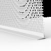 GIMA ROLLLADEN-ABSCHLUSSPROFIL MIT GEWEBE OHNE SCHAUMSTOFFKLEBEBAND, 250 cm