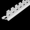 KANTENPROFIL INNENPUTZ ALU WEISS 8 MM, Putzdicke: 8 mm, 260 cm
